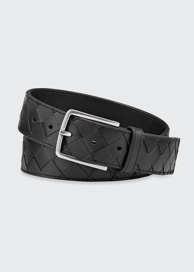 Men's Cintura Intrecciato Leather Belt