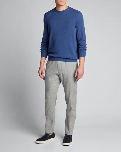 Men's Solid Cashmere Crewneck Sweater