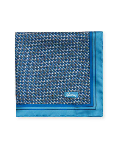 Men's Box-Print Silk Pocket Square