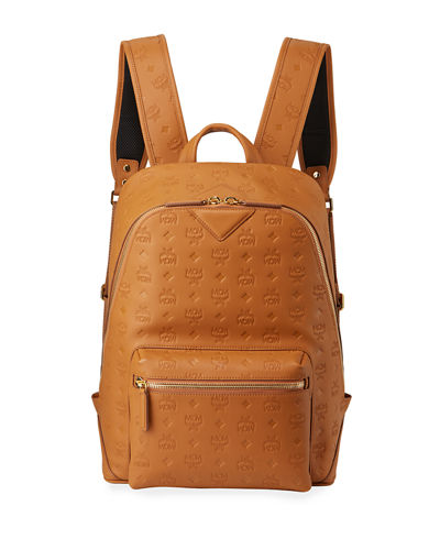 Men's Neo Duke Logo-Embossed Leather Backpack