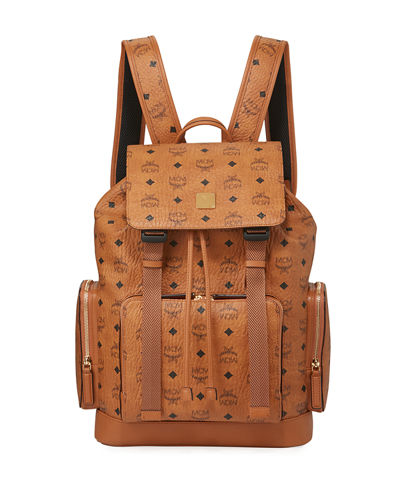 Men's Brandenburg Visetos Double-Buckle Backpack