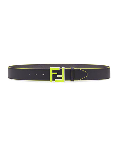 Men's Neon FF Calf Leather Belt
