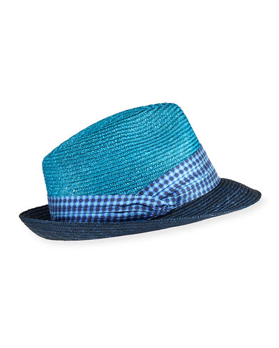 Men's Fedora Hat with Satin Band