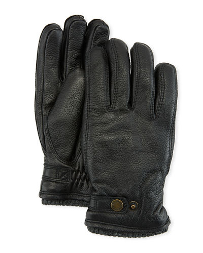 Men's Utsjo Elk Leather Snap Gloves