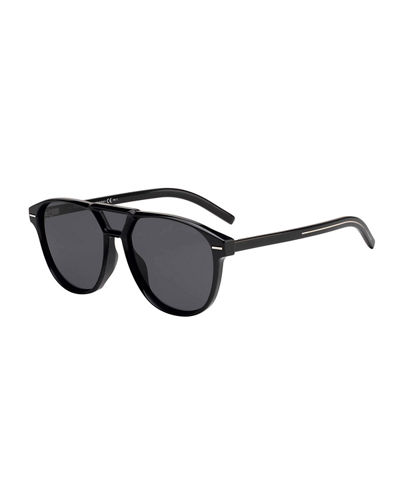 Men's Square Extended-Lens Grilamid Sunglasses