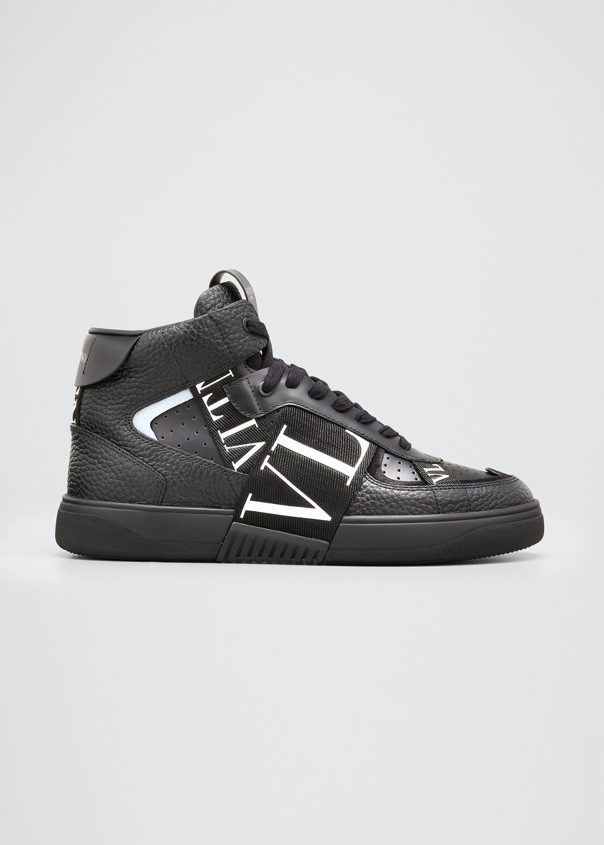 Valentino MEN'S VL7 WEB LOGO HIGH-TOP SNEAKERS