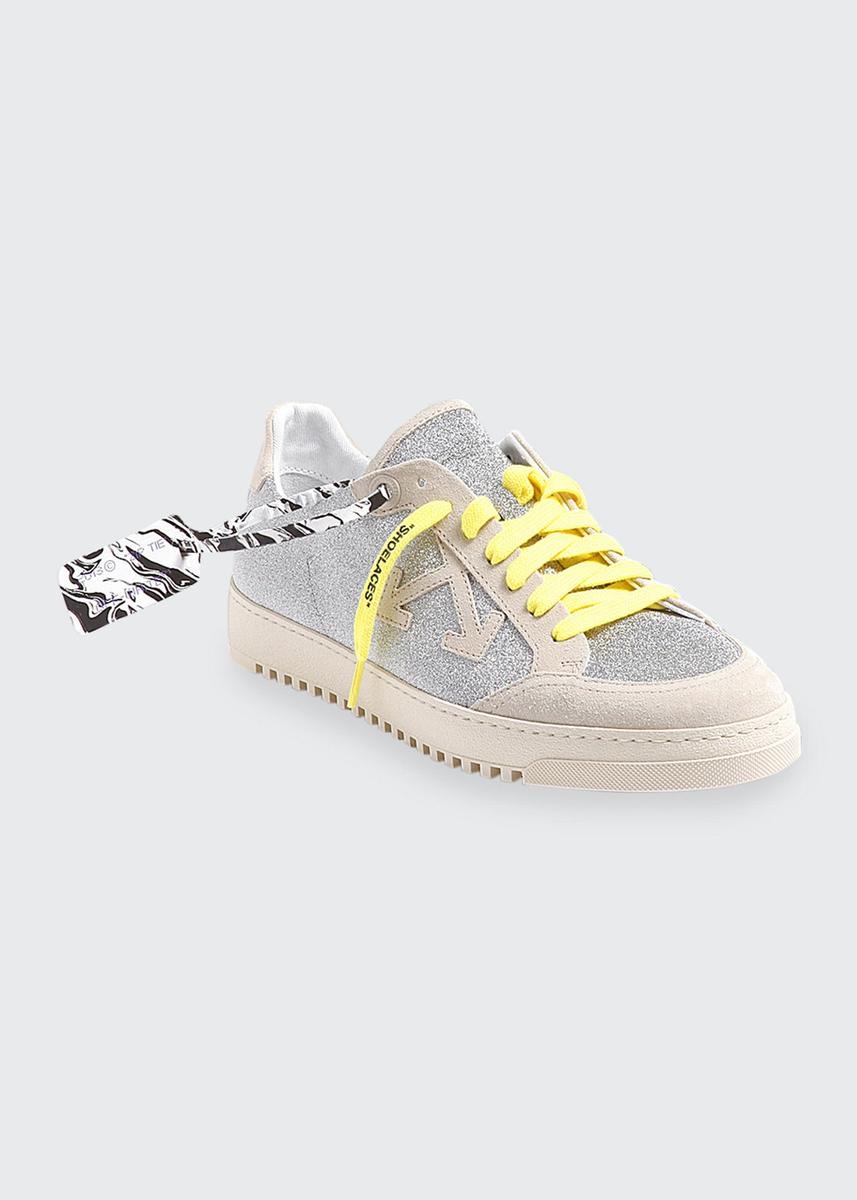 Off-White MEN'S 2.0 GLITTER & SUEDE SNEAKERS