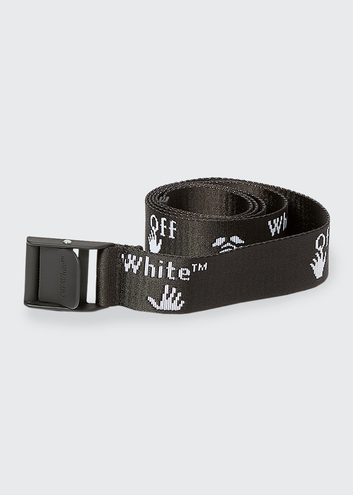 Off-White MEN'S INDUSTRIAL LOGO GRAPHIC WEB BELT