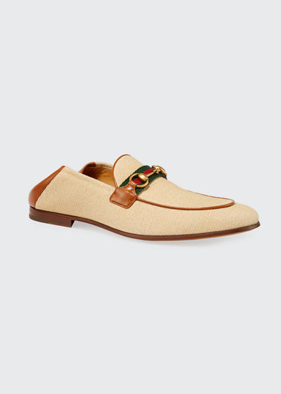 Men's Canvas & Leather Loafers