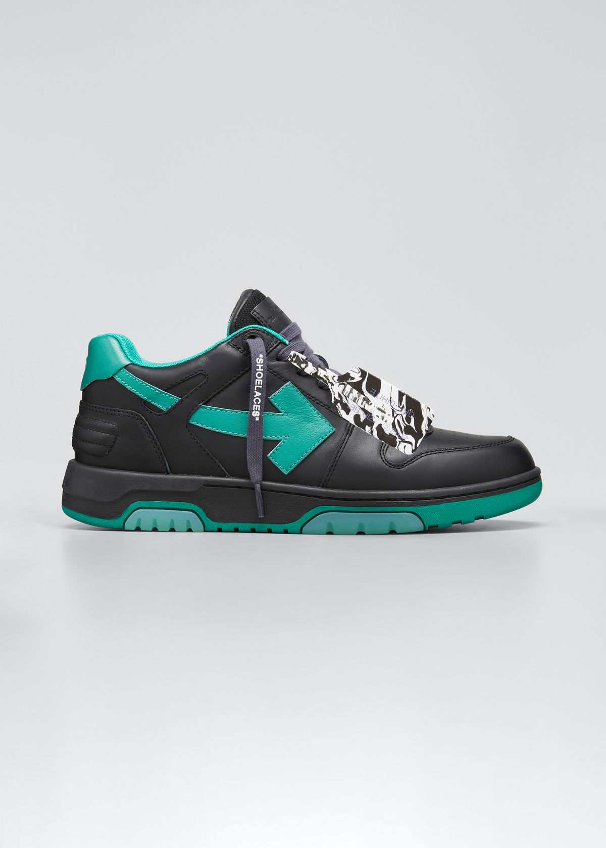 Off-White MEN'S OUT OF OFFICE ARROW LEATHER SNEAKERS