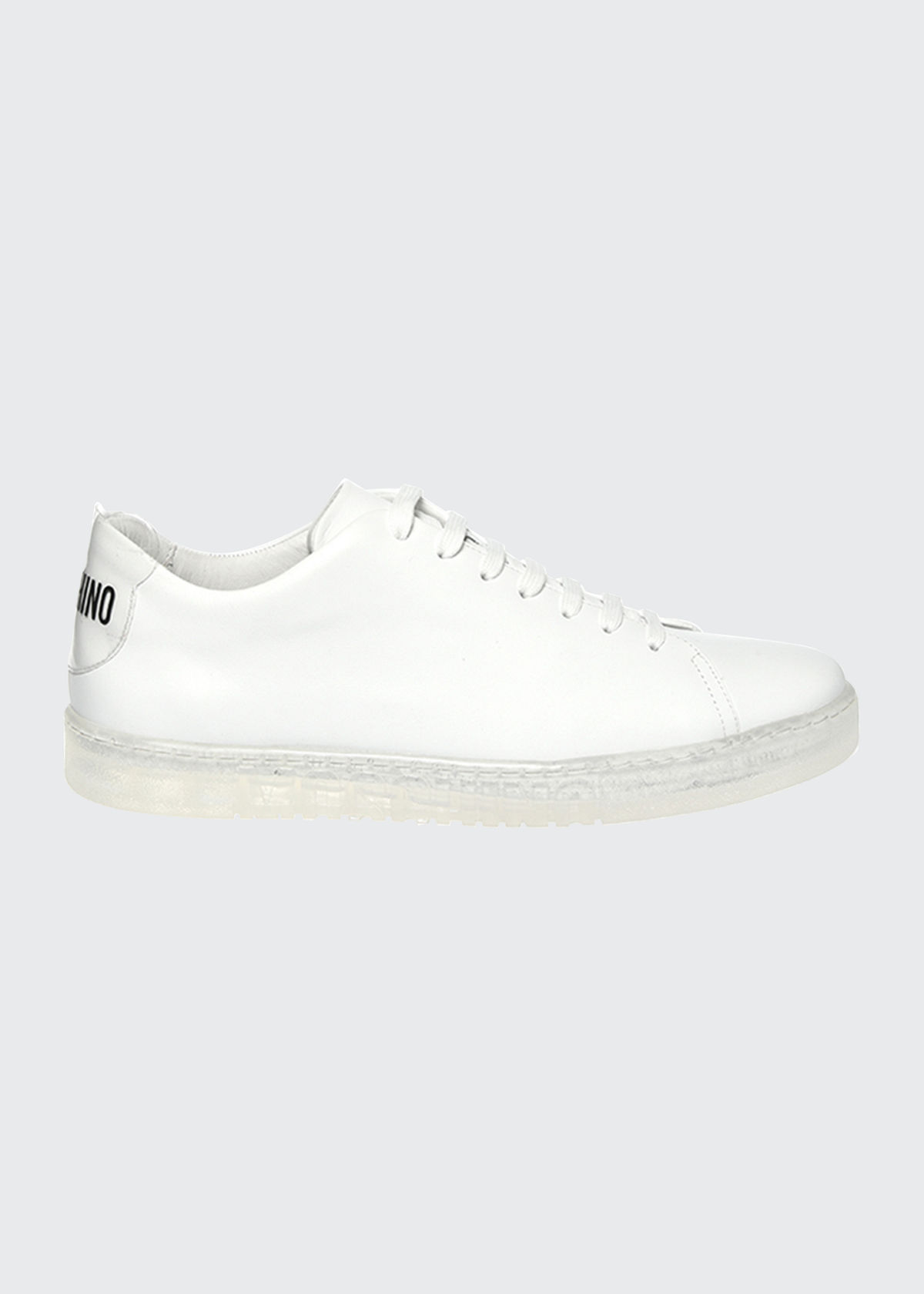 Moschino MEN'S LOGO CLEAR-SOLE LOW-TOP SNEAKERS