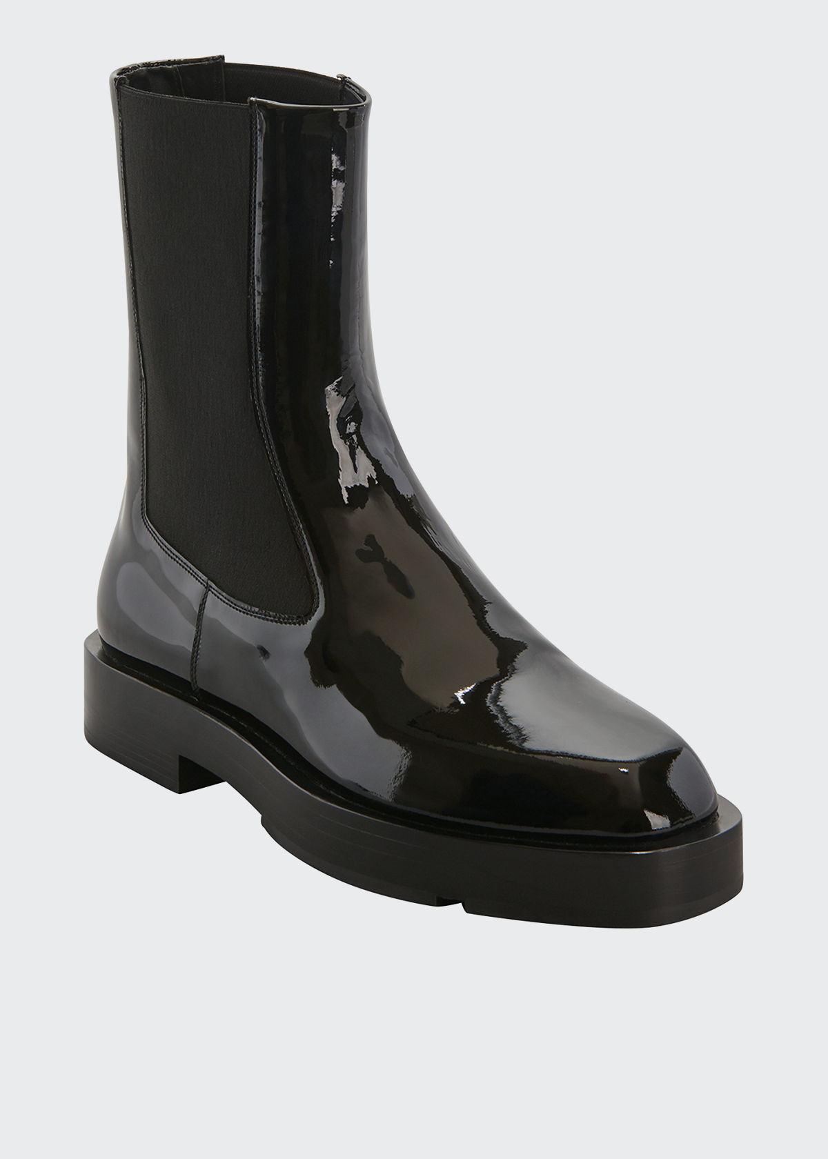 Givenchy MEN'S PATENT LEATHER CHELSEA BOOTS