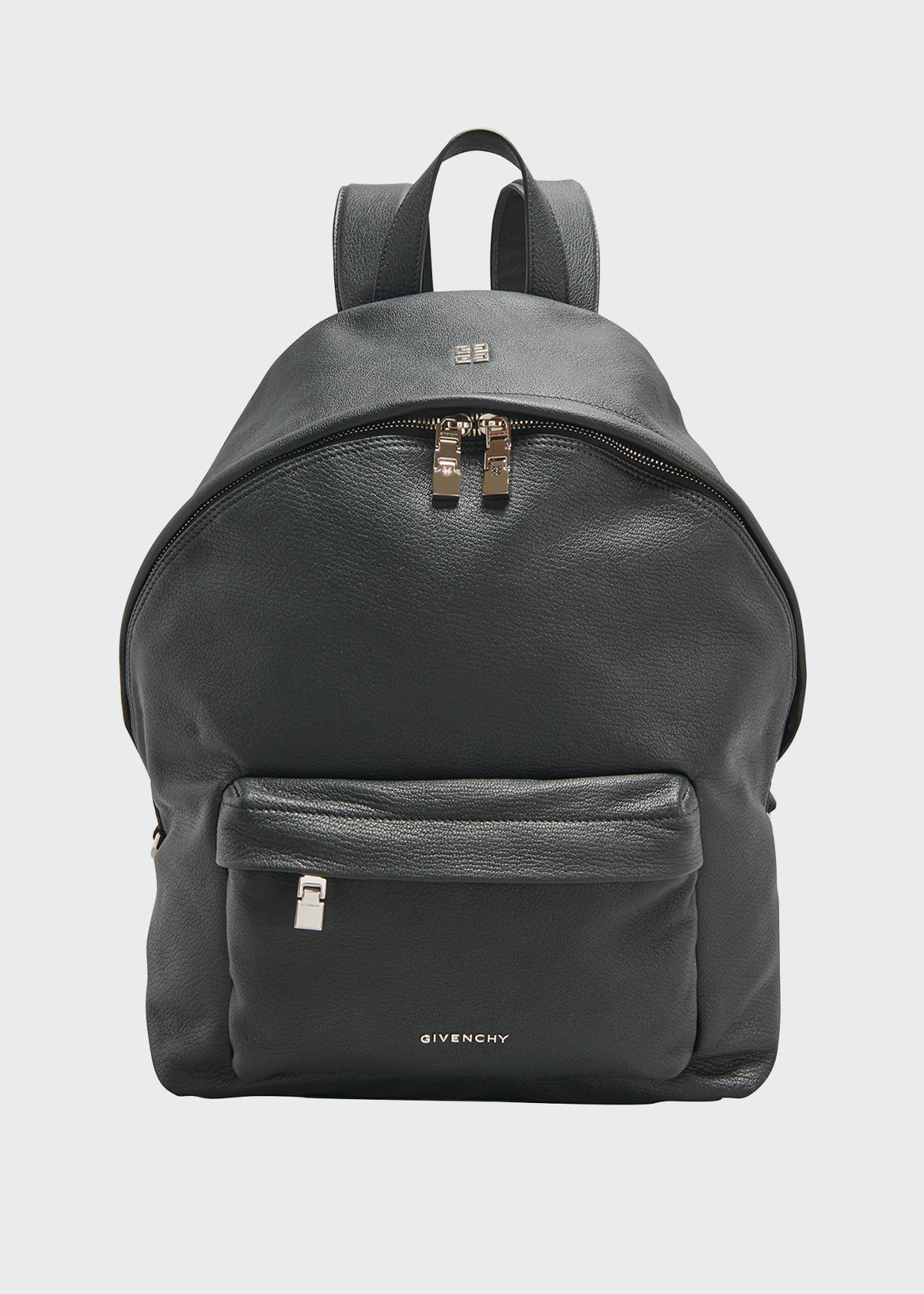 Givenchy MEN'S DOUBLE U LEATHER BACKPACK