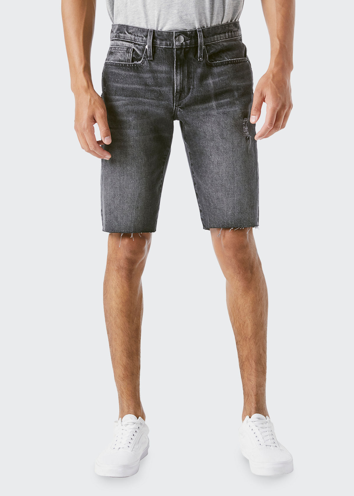 Frame MEN'S L'HOMME FADED CUTOFF SHORTS