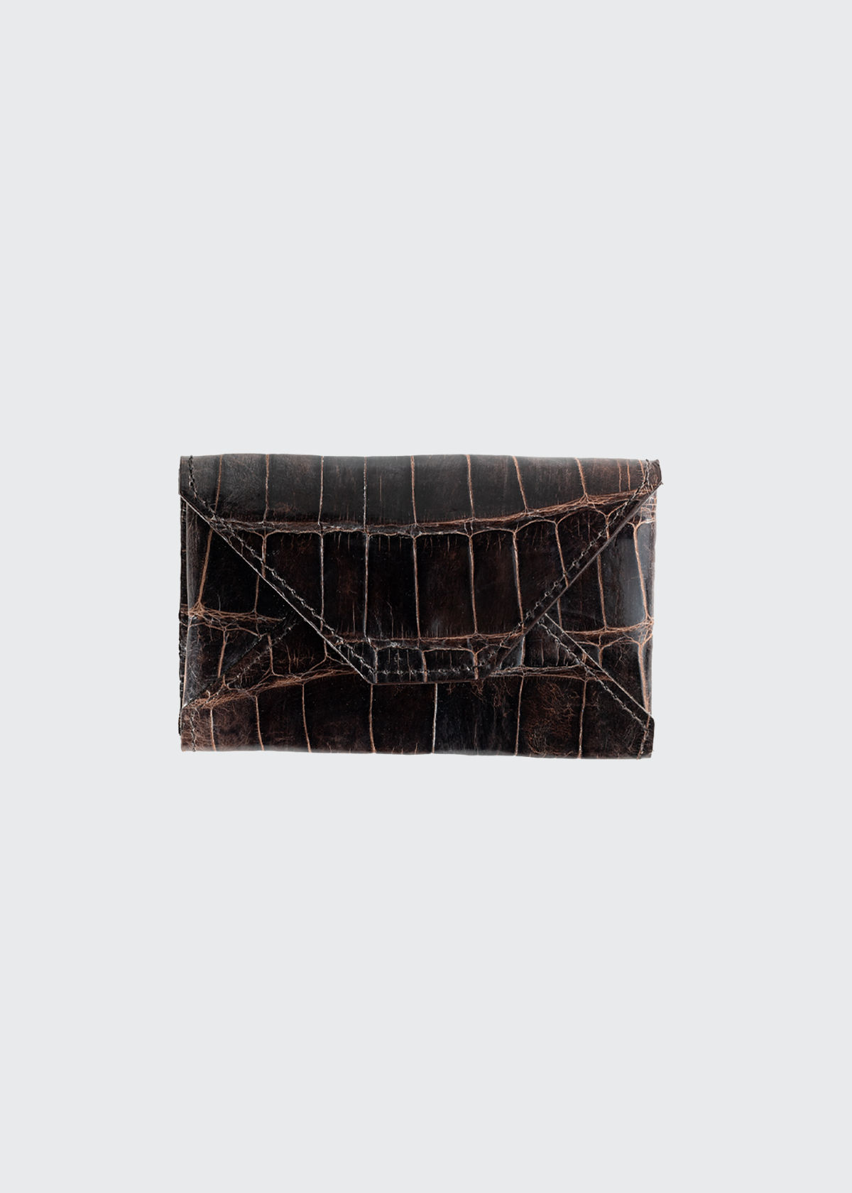 Abas MEN'S PERSONALIZED ALLIGATOR LEATHER CARD CASE
