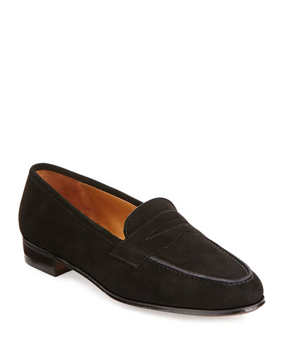 Gravati Suede Round-Toe Loafers real cheap online PA21T