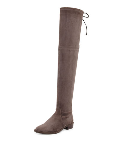 02a40f19acea Stuart Weitzman Lowland Stretch-Suede Over-the-Knee Boot