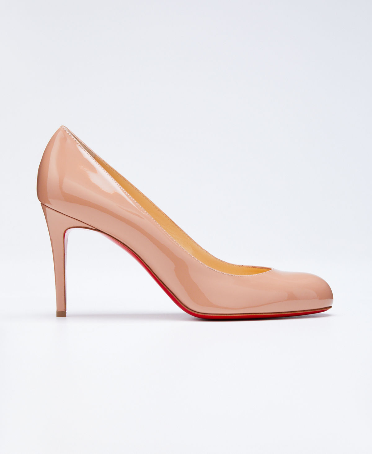 brand new b0461 465e8 Simple Patent 85mm Red Sole Pump
