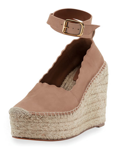 ac28f794bb1 Chloe Lauren Scalloped Wedge Espadrille