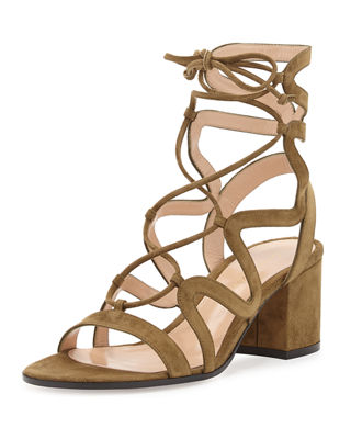 Gianvito Rossi Suede Gladiator Sandals