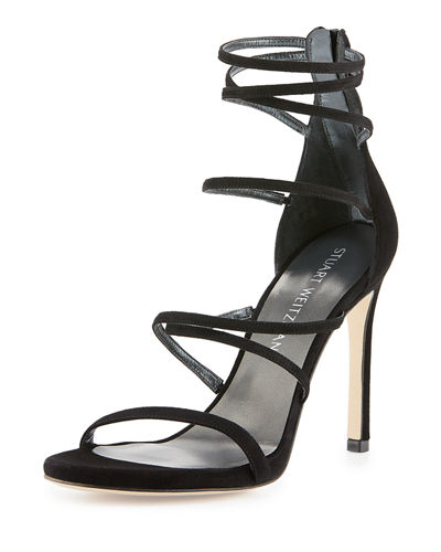 Myex Strappy Suede Evening Sandal