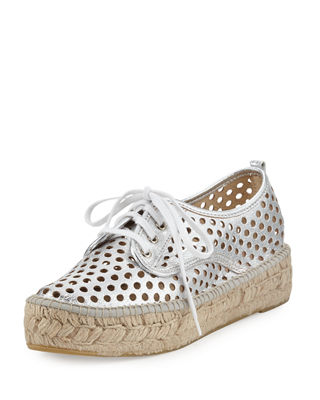 Loeffler Randall Metallic Leather Espadrilles