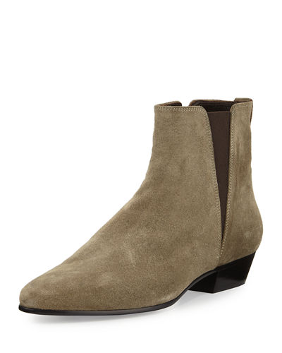 Patsha Suede Stretch Ankle Bootie
