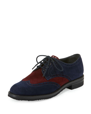 COLORBLOCK SUEDE BROGUE OXFORD