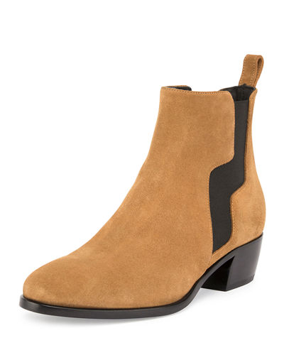 Gipsy Suede Pull-On Ankle Boot