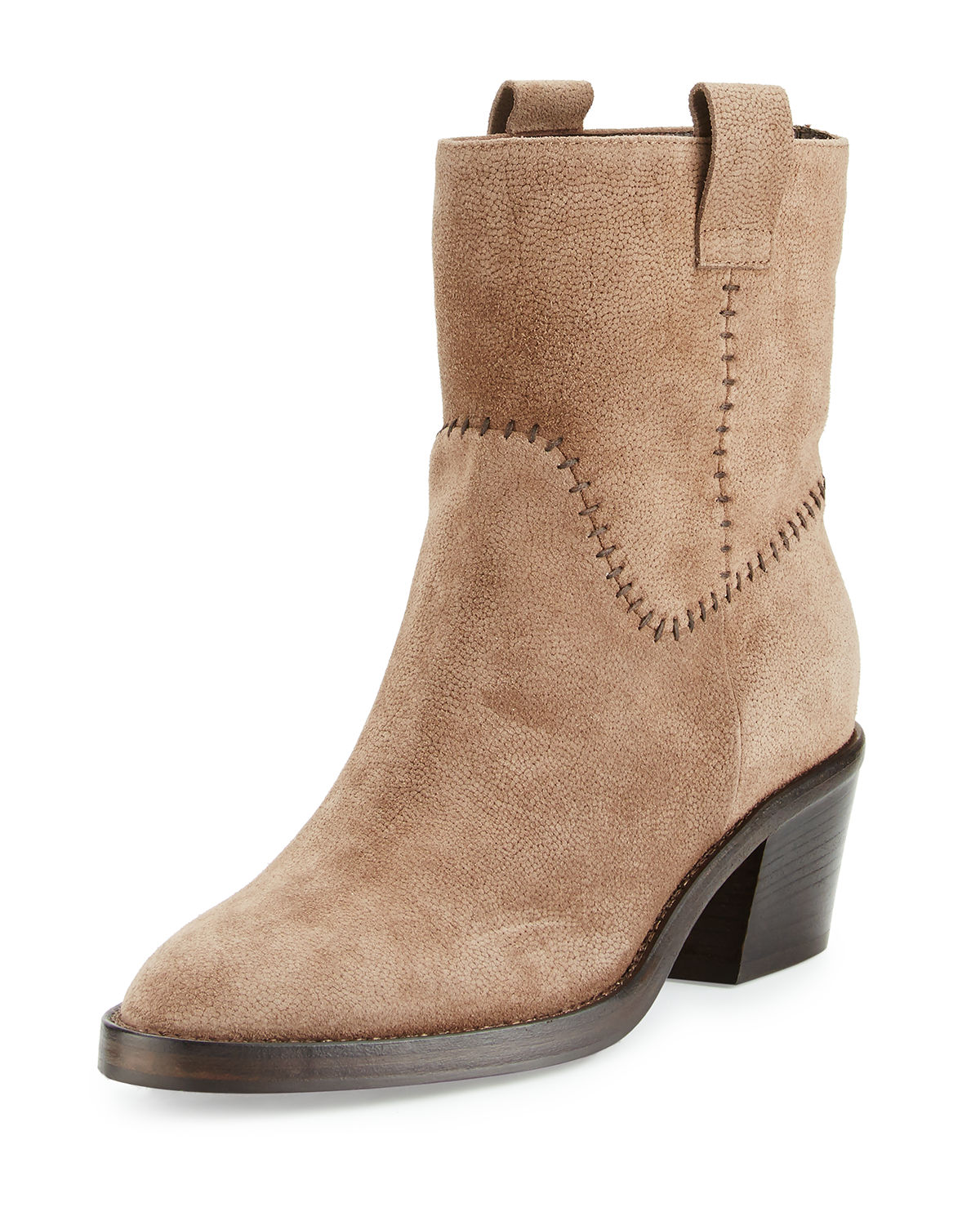 Lorie Suede Western Ankle Boot