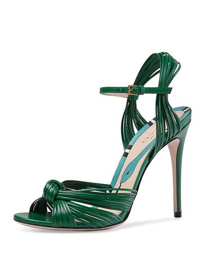 6a3552d40d9fc Gucci Allie Strappy Knotted Leather Sandal