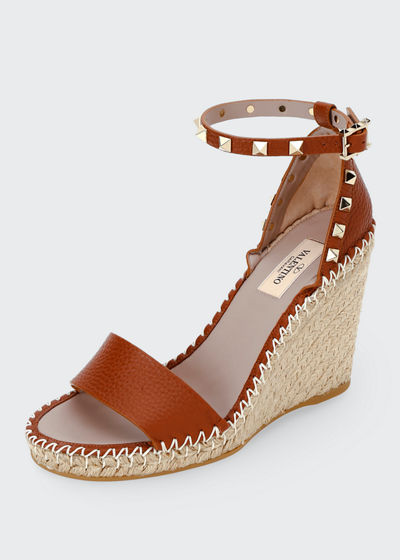 f0a18adad09 Rockstud Double Espadrille Wedge Sandals