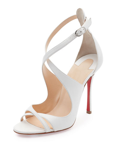 Malefissima Crisscross 100mm Red Sole Sandal