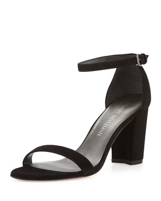 Stuart Weitzman Patent Leather Crossover Sandals
