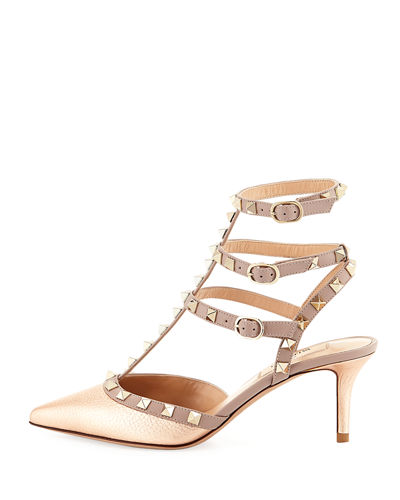 Rockstud Leather 65mm Pump