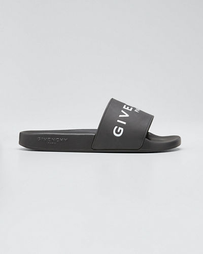 272fb456159e Givenchy Logo Rubber Sandal Slide