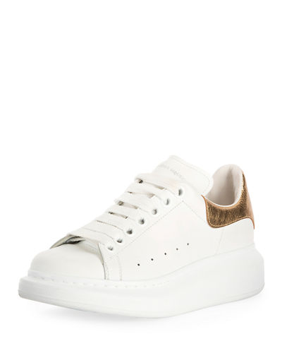 f9ab3df87450 Leather Lace-Up Platform Sneakers
