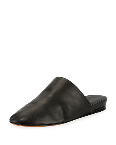 Oren 2 Leather Mule Flat, Black