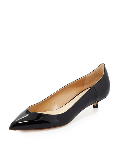 Patent Leather Low-Heel Pump