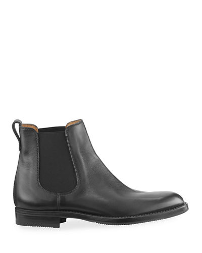 Tumbled Leather Chelsea Boot