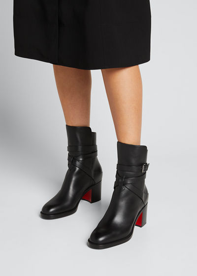 Karistrap Leather 70mm Red Sole Ankle Boot