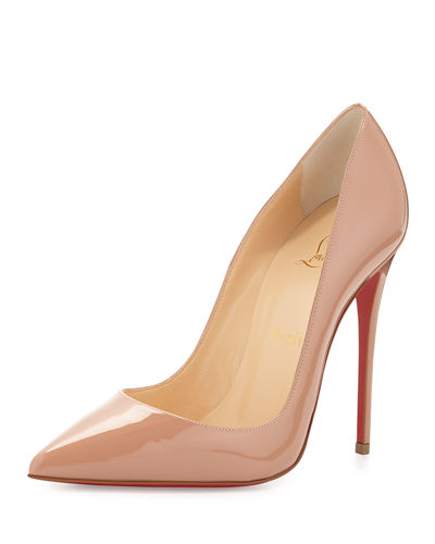 So Kate Patent 120mm Red Sole Pumps, Nude