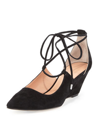 Sigerson Morrison Suede Wedge Pumps