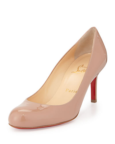 Simple Patent Red Sole Pumps