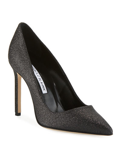 64678e3391 BB Snowflake Glitter Point-Toe Pump Quick Look. Manolo Blahnik