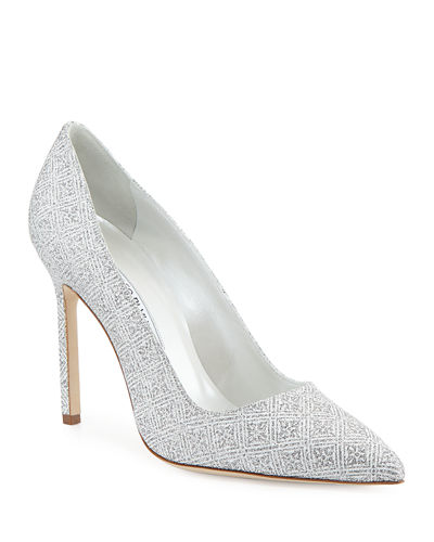 74b50f4680e7 BB Snowflake Glitter Point-Toe Pump Quick Look. Manolo Blahnik