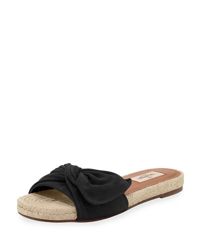 Valentino Bow Slide Sandals genuine sale online with credit card sale online eastbay cheap online GCxHqx0