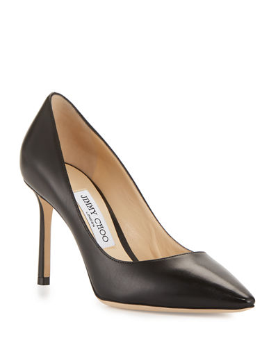 Romy 85mm Kid Leather Pump