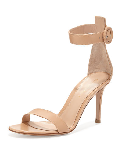 Portofino Leather Ankle-Strap 85mm Sandal