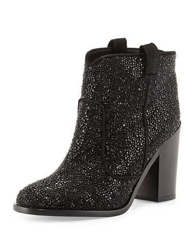 Pete Pull-On Leather Ankle Boot, Black
